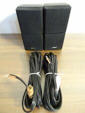 2 x Bose Lifestyle Double-Cubes incl. orig. Câble/Satelitten/Black/TOP #td7