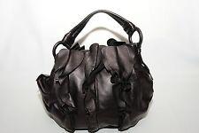 Prada Leather Bag w Ruffles,Dark Purple,Very Rare Your Friends will ask...