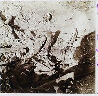 Marne Cadavere Tedesco Germania Guerre 14-18 Francia Foto Stereo Placca