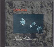 Leo Ferre Thank You Satan en public a l' Alhambra 1961 Vol II CD French Chanson