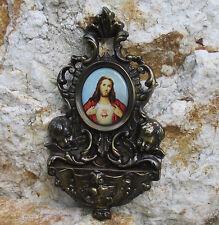 Weihwasserkessel Bronze 2 Schutzengel Weihwasser-Wand-Behälter Becken Gott Vater