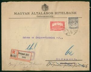 Mayfairstamps Hungary 1920 Perfins Registered to Budapest cover wwo1609