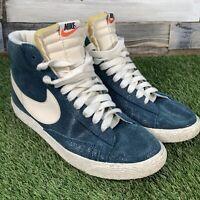 UK6.5 Nike Blazer VTG Blue Sparkle Rare Mid Top Trainers - Retro Style - EU40.5