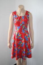 Lien & Giel, Sommerkleid, Blumen, rot, ohne Arm