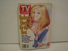 TV Guide Aug. 20-26 1994 Barbara Streisand  NO LABEL