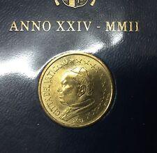 50 CENT VATICAN 2002 JEAN PAUL II ( PLAQUETTE ) NEUF / UNC.