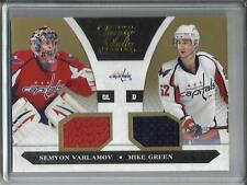 Semyon Varlamov-Mike Green 10/11 Luxury Suite Gold Game Used Jersey #8/10