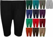Patternless Mid Rise Plus Size Sporty Shorts for Women