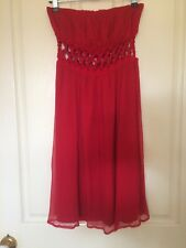 Ladakh Dress Red Silk Size 8