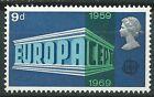 GRAN BRETAÑA EUROPA cept 1969 Sin Fijasellos MNH