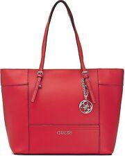GUESS Damen Handtaschen, Schultertaschen, Shopper, XXL-Shopper, Rot 42x29x14 cm