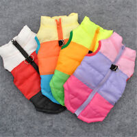 Small Pet Dog Cat Coat Jacket Puppy Winter Warm Padded Harness Apparel Clothes