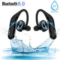 XGODY IPX7 Bluetooth 5.0 Headphones Stereo Headset True Wireless Sports Earbuds