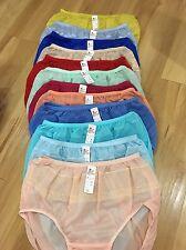 vintage bikini nylon satin panties hi brief size XL Lacy Sheer Soft