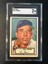 1952 Topps #337 Jim Hearn Giants SGC 7 High Number PSA Set Break