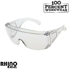 RHINOtec Visitors Clear Polycarbonate Lens Over Spectacles Safety Specs Glasses
