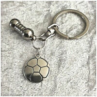 Cremation Jewellery Ashes Urn Keyring w Football Funeral Keepsake Memorial