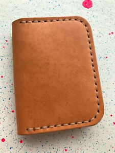 100% Cow Leather Bifold Wallet, Cardholder, Handmade In The USA, Minimalist