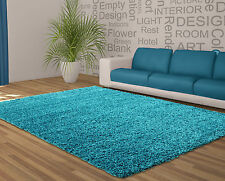 "Soft Shaggy Blue Teal Rug Thick Bargain in 120 x 160 cm (4'x5'3"") Carpet"