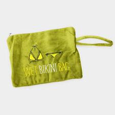NEW WET BIKINI BAG BEACH WRISTLET BAG PLUSH OLIVE GREEN