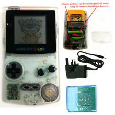 Clear white Rechargeable Nintendo Game Boy Color GBC Console With Card W/Charger
