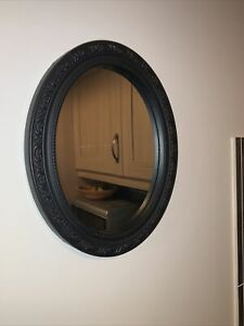 Black Oval Framed mirror