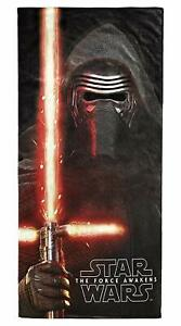 "Star Wars Beach The Force Awakens Towel EP7 Kylo Ren 28"" x 58"" 100% Cotton new"
