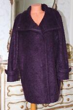 BETTY JACKSON Ladies wool&acrylic mix front pockets purple coat size 16