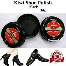 KIWI Shoe Polish Wax Shine BLACK WHITE DARK TAN 36g Paste Protector