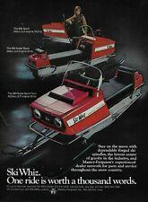 New listing 1969 Ski Whiz Super Sport Twin Red Snowmobile Original Vintage Print Ad