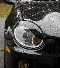 Dodge Neon headlight Eyelid Overlays brows curve 3M Scothprint Gloss Black srt4