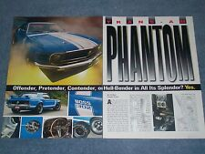 "1970 Ford Mustang Coupe RestoMod Vintage Article ""Trans-Am Phantom"""