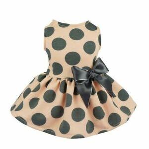 Cute Pet Dog Dress Clothes Bow Dots Princess Skirt Puppy Cat Dog Wedding Dresses