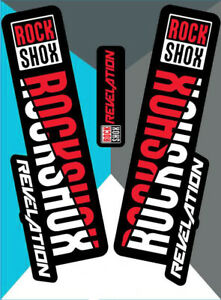 ROCK SHOX REVELATION RED 2018 PRINTED STICKER DECALS GRAPHIC ADHESIVE FORKS BIKE