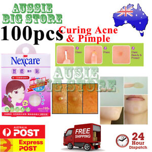 100 Pcs Nexcare 3M Acne Dressing Pimple Sticker Inflamed Zit Heal Patch Thin
