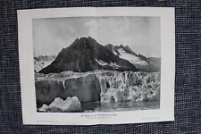 Märjelesee am Aletschgletscher in Wallis DRUCK von 1903  glacier d'Aletsch