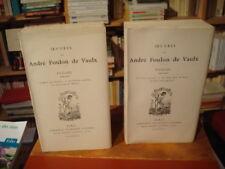 A. FOULON DE VAULX Poésies 1900-1923 Lemerre Édition elzévirienne complet 2 vol.