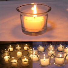 4Pcs Clear Glass Votive Tea Light Candle Holder Wedding Xmas Party Decor Gift