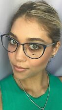 New PRADA VPR 5T5 U6R-1O1 54mm Blue Cats Eye Women Eyeglasses Frame #6,7