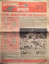 UFFICIALE Arsenal SPORT QUOTIDIANO MARZO 1987 molto scarse