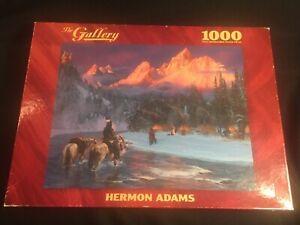 "1000 pc ""COMING HOME"" Hermon Adams Art Puzzle COMPLETE Native American"