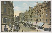 Warks/W Midlands postcard - New Street, Birmingham + Advert for Windows (A37)