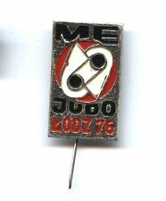 pin EUROPEAN Judo Championships POLAND - Łódź 1976 badge