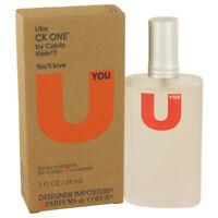Designer Imposters U You  2 oz Cologne Spray (Unisex)