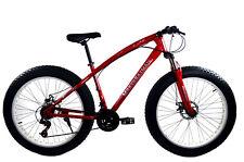 "Fatbike 26"" BICICLETTA 21. MARCE FORCELLA MTB MOUNTAIN BIKE monsterbike rh45cm ROSSO"