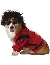 Pet Pop King Michael Jackson Popstar 80s Dog Fancy Dress Costume Medium