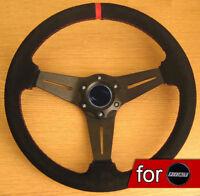 Volante Rally Pelle Scamosciata per Fiat Punto Bravo Panda Stilo 500 124 126 128