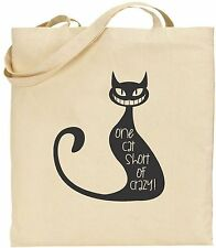 Tote Bag - One Cat Short of Crazy
