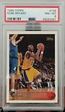 1996 Topps KOBE BRYANT Los Angeles Lakers Rookie RC Card 138 Graded PSA 8