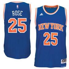 Men's New York Knicks DerrickRose adidas Royal climacoolRoad Swingman Jersey-XXL